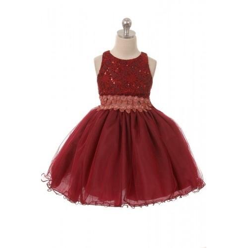 Floral Girls Sequin Dresses