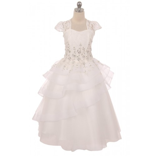 Lace Tiered Pageant Dress
