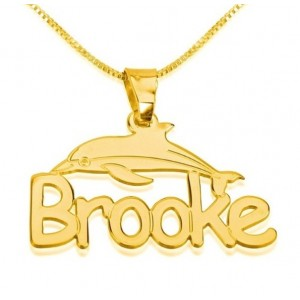 Dolphin Name Necklace