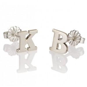 Letter Stud Earrings